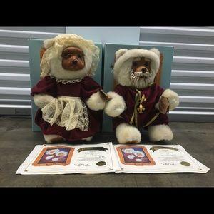 Raikes Bears Mr + Mrs Claus 1988